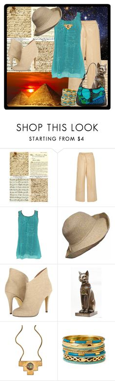"""""""Bucket List - Egypt"""" by samantha-estelle ❤ liked on Polyvore featuring Brock Collection, Michael Antonio, Blydesign, Forever 21 and Gucci"""