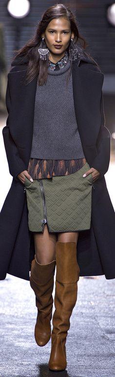Phillip Lim Fall Winter 2013-14 skirt side zip in bubble knit scuba/embossed ponti