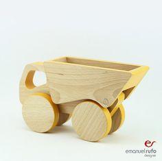 Houten Push speelgoed auto peuter Gift feestvarken door emanuelrufo
