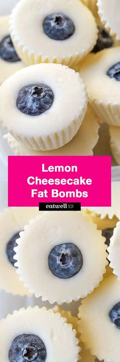 No-Bake Lemon Cheesecake Fat Bombs - These creamy lemon bites stop sugar cravings right in their tracks!