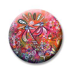 "Kristen Stein Enchanted Garden 1 (Magnetic) Design insert that fits into 1""Magnabilities interchangeable jewelry."