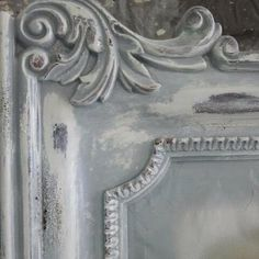 gray and white distressed finish