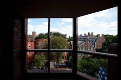 Overlooking JFK Street near Harvard Square