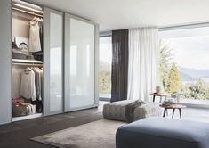Contemporary wardrobe / melamine / lacquered wood / glass RIQUADRO LEMA Home