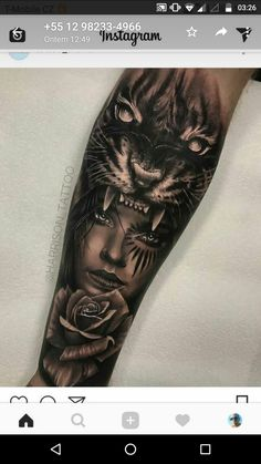 Tattoo Old School Chest - Lion Tattoo Triangle - Tattoo Ideen Kindernamen - Tattoo Old School Preto - Tattoo Minimaliste Lune Forarm Tattoos, Leg Tattoos, Body Art Tattoos, Sleeve Tattoos, Cool Tattoos, Animal Sleeve Tattoo, Tatoos, Tiger Tattoo, Tattoos For Women