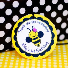 Custom Bumble Bee Party Favor Tags  set of 20 by prettypaperparty, $7.50