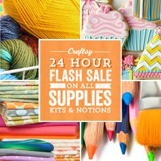 The weekend just got a little better — it's Craftsy's 24-Hour Flash Sale! Shop before midnight and enjoy stunning savings of up to 70% off all supplies.