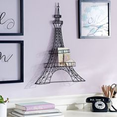 Wire Eiffel Tower Decor from PBteen. Saved to Eiffel Tower. Shop more products from PBteen on Wanelo. Paris Room Decor, Paris Rooms, Paris Bedroom, Paris Theme Decor, Travel Room Decor, My New Room, My Room, Girl Room, Bedroom Themes