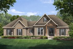 Craftsman Style House Plan - 3 Beds 2 Baths 1769 Sq/Ft Plan #430-99 Exterior - Front Elevation - Houseplans.com