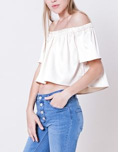 Satin top - LAB COLLECTION - WOMAN | Stradivarius Spain