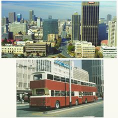 joburg and its buses in Johannesburg City, My Family History, Good Ole, The Good Old Days, Back In The Day, Buses, 1980s, South Africa, Places To Go