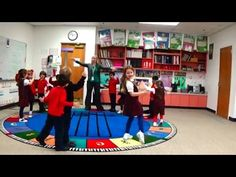 2nd Grade moves to Viennese Musical Clock w/Scarfs - YouTube