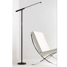 The Brazo Floor Lamp is an energy efficient LED floor lamp with a rotating head and dim control. Made by Pablo Lighting. Silver Floor Lamp, Led Floor Lamp, Floor Design, House Design, Scandinavian Lighting, Home Furniture Online, Task Lamps, Accent Furniture, All Modern