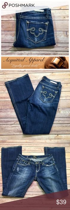 [ReRock] for Express Distressed Boot Jeans Beautiful lightly distressed jeans. Faded wash. Size 2. 98% cotton 2% spandex. Express Jeans Boot Cut