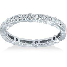 "<li>1/2ct vintage-style diamond ring</li><li>14k white gold jewelry</li><li><a href=""http://www.overstock.com/downloads/pdf/2010_RingSizing.pdf""><span class=""links"">Click here for ring sizing guide</span></a></li>"
