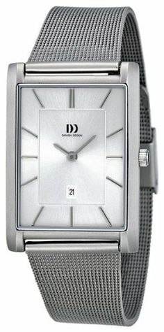 Danish Design Mens Stainless Steel Mesh Watch IQ64Q785 Danish Design. $44.85. Rectangle Stainless Steel Case. Water Resistant up to 100 m. Black Calfskin Strap. Date. Water Resistance : 10 ATM / 100 meters / 330 feet. Save 81% Off!