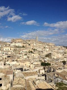 Matera in the region of Basilicata