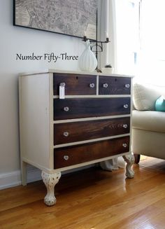 Number Fifty-Three: Two-Toned Antique Dresser