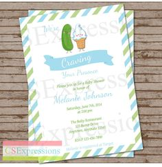 Craving Pickles and Ice cream Baby Shower by CSExpressions on Etsy