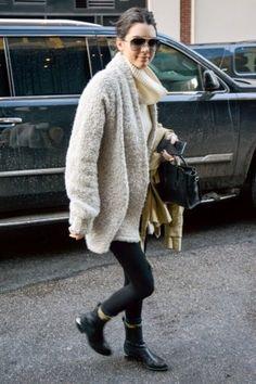 Kendall Jenner wearing Celine Nano Bag, Alexander Wang Anouck Cutout-Heel Jodhpur Boot and Dolce & Gabbana Dg2102 Sunglasses