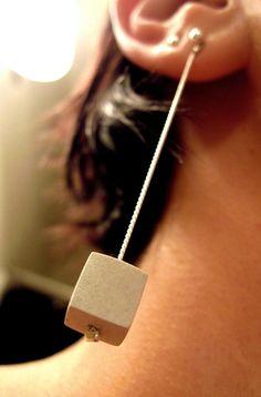 Concrete earring - concrete jewelry | Betonsierraad