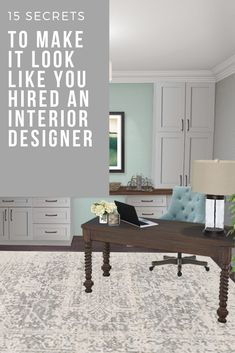 Cassidy Hardesty of CDHardesty Designs shares 15 budget-friendly secrets to get the look of high-end, custom interior design. Interior Design, Interior Design Consultation, Office Design Inspiration, Kenroy Home, Home, Interior, Dining Room Furniture, Home Office Design, Home Decor