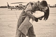 Soldier who has returned home from war is reunited with his wife...☺♥