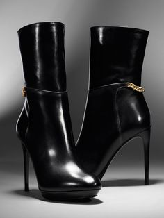 burberry black leather #booties #heels #shoes