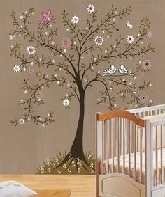 Painted tree. nursery-ideas