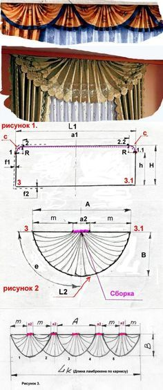 Svag fan or cockleshell Lesson No. Swag Curtains, Curtains And Draperies, Elegant Curtains, Drop Cloth Curtains, Window Curtains, Valances, Arched Window Treatments, Window Coverings, Rideaux Design