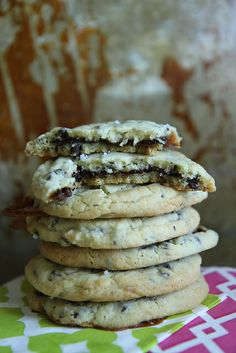 Chocolate Salted Caramel Stuffed Chocolate Chip Cookies by Heather Christo