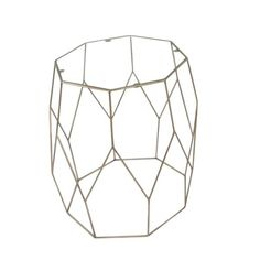 Metal & Glass accent table, gold Dimensions: x x Cube Side Table, Side Tables, Table Dimensions, Contemporary, Coffee, Metal, Glass, Home Decor, Kaffee