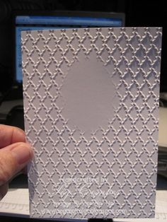 Double embossing tutorial.  Very clear and easy to follow.
