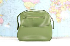 Retro Green Travel Overnighter Diaper Bag Carry On by AtomicAttic, $24.00