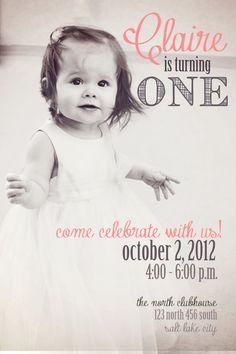 first birthday invites girl