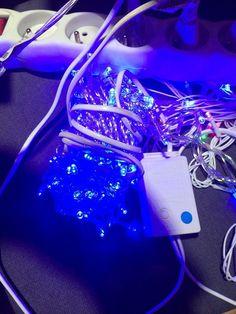 LED vánoční řetěz 5m - 50 LED - modrý - Luminer