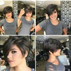 Thin Hair Haircuts, Short Hair Cuts, Love Hair, Great Hair, Medium Hair Styles, Curly Hair Styles, Longer Pixie Haircut, Layered Hair, Pretty Hairstyles