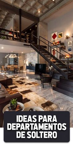 Very Beautiful Loft Design With Stunning Interiors Here is a fabulous loft house that is designed in a very distinct fashion. This loft comprising of bright spaces and chic interior design are part o. Loft Apartment Decorating, Apartment Interior, Apartment Design, Interior Decorating, Decorating Ideas, Interior Ideas, Apartment Cleaning, Apartment Goals, Interior Stairs