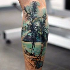 100 Palm Tree Tattoos For Men - Tropical Design Ideas | Plenty ...