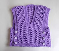 Ravelry: Marianna's Side Button Lacy Baby Vest Top pattern by marianna mel