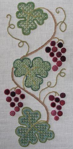 Anna Scott - love the leaf filling stitches