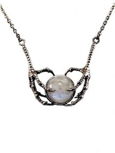 """Women's """"Avian Embrace"""" Necklace by Diamonds And Coal (Rainbow Moonstone)"""
