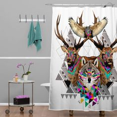 Found it at Wayfair.ca - Kris Tate Forest Friends Polyester Shower Curtain