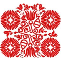 Vyšívané oplecko KATARÍNA - farebná varianta: červená svetlá