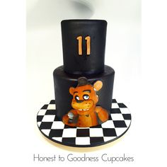 Five nights at Freddy's cake, Freddy Faz Bear cake.