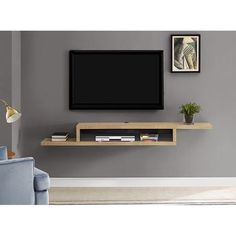 8 Self-Reliant Cool Ideas: Floating Shelves Over Bed Tvs how to make floating shelves other.How To Decorate Floating Shelves Counter Tops floating shelf laundry wall colors.Floating Shelf Layout Entertainment Center.. Tv Wanddekor, Wall Mount Tv Stand, Living Room Tv Unit Designs, Tv Wall Decor, Tv Unit Decor, Tv Wall Design, Tv In Bedroom, Tv Stands, Night Stands