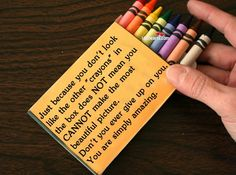 These would be great to hand out after I pull my switcheroo trick on my kids. I like to give each team a box of entirely only one color and tell them to draw me a rainbow. The kids say that they can't do it b/c they only have one color. That helps me to tell them it takes all colors to make the world a beautiful place.