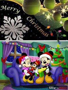 Mickey and Minnie Mouse Christmas Card