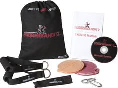 Basic Mobile Gym Kit in a Bag - The light circular band plus a medium band for higher resistance exercises. The combination of these two bands permits almost every full-body exercise possible. They'll allow you to stretch, strengthen and tone your upper body, lower body and core. $44.95