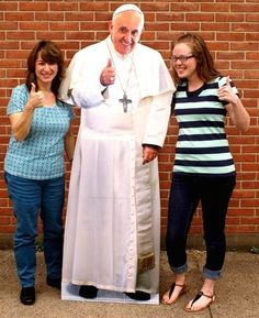 Pope Francis Thumbs Up Lifesize Pop Up Standee - PopeFrancisVisit.com